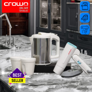 CROWNLINE DK-149 CROWNLINE TRAVEL TRIO KIT (KETTLE / IRON / HAIR DRYER)